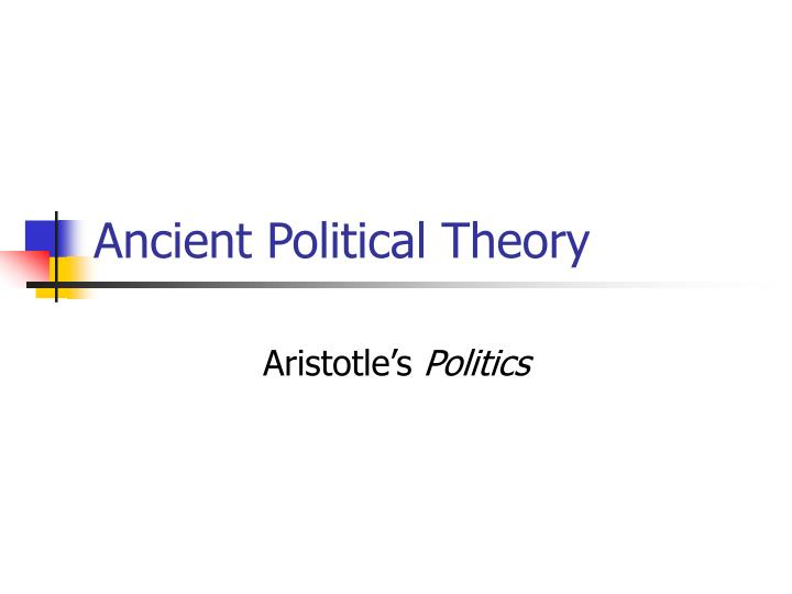 ancient political theory n.