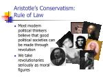 aristotle s conservatism rule of law