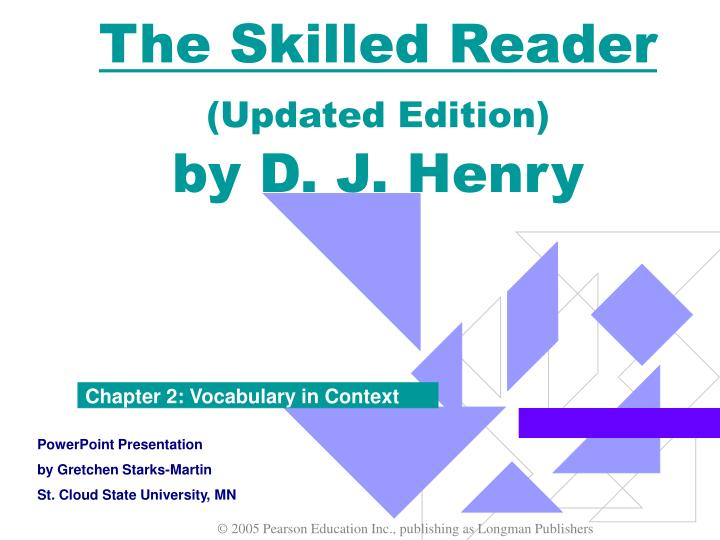 the skilled reader updated edition by d j henry n.