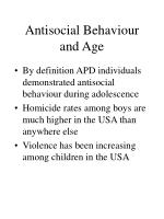 antisocial behaviour and age