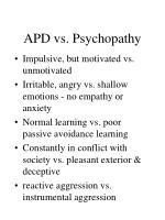 apd vs psychopathy