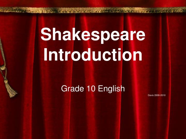 shakespeare introduction n.