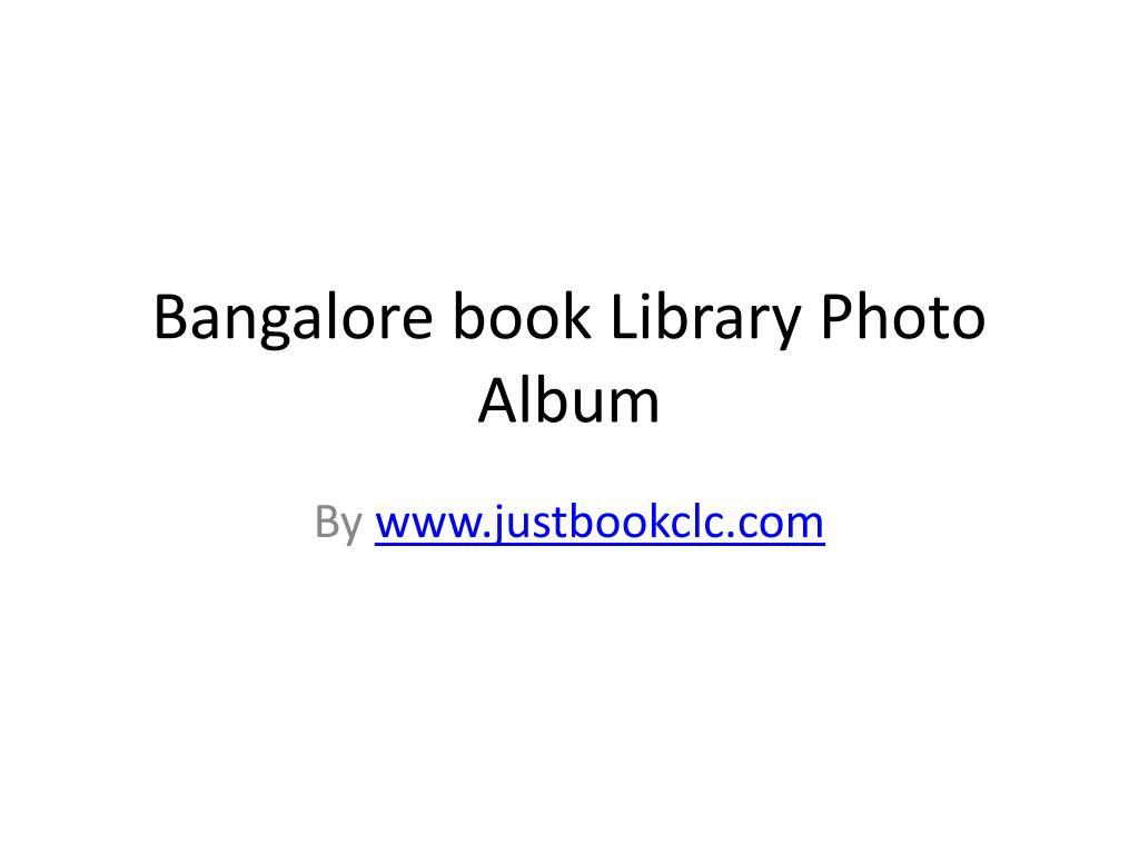 bangalore book library photo album l.