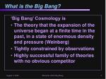 what is the big bang