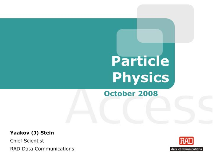 particle physics n.
