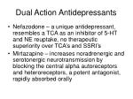 dual action antidepressants