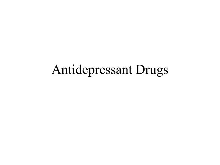 antidepressant drugs n.