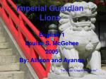 imperial guardian lions