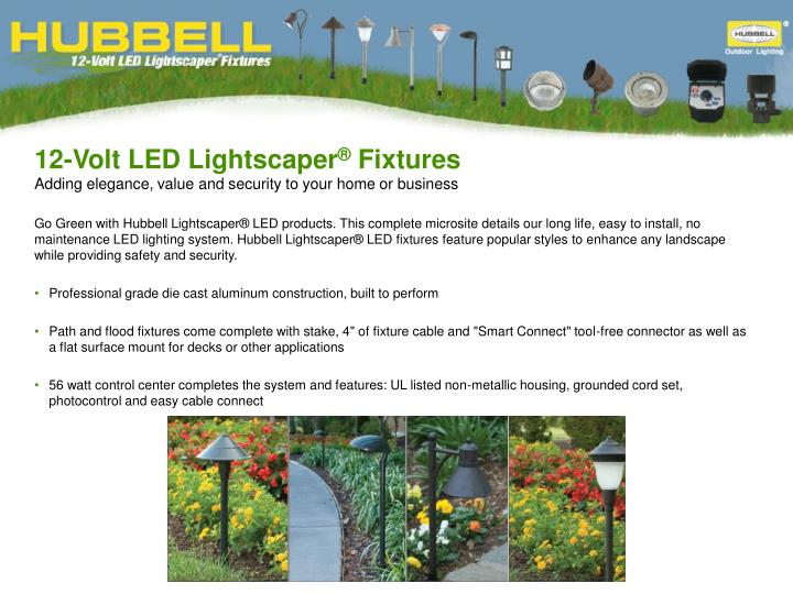 12 volt led lightscaper fixtures adding elegance value and security to your home or business n.