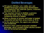 distilled beverages