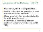 dictatorship of the proletariat 128 130