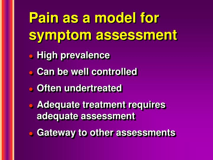 Pain as a model for