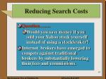 reducing search costs