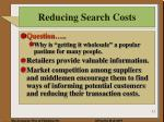 reducing search costs1