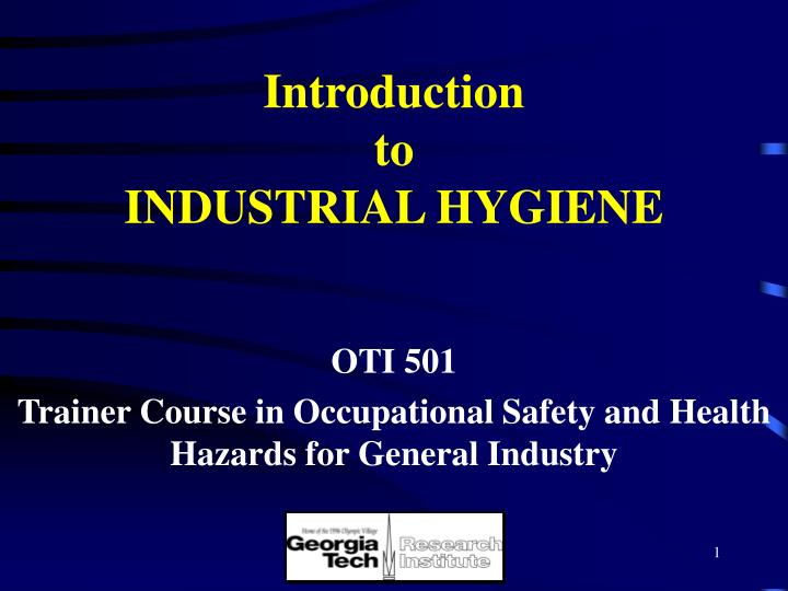 introduction to industrial hygiene n.