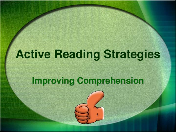 active reading strategies n.