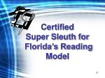 certified super sleuth for florida s reading model