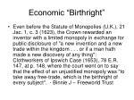 economic birthright