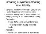creating a synthetic floating rate liability
