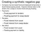 creating a synthetic negative gap