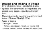 dealing and trading in swaps