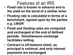 features of an irs
