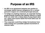 purpose of an irs