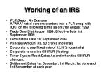 working of an irs