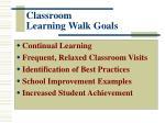 classroom learning walk goals
