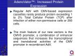 adenovator increased protein expression