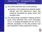 adenovator increased protein expression1