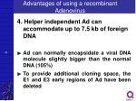 advantages of using a recombinant adenovirus3