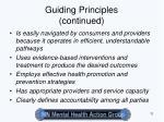 guiding principles continued