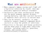what are anti biotics