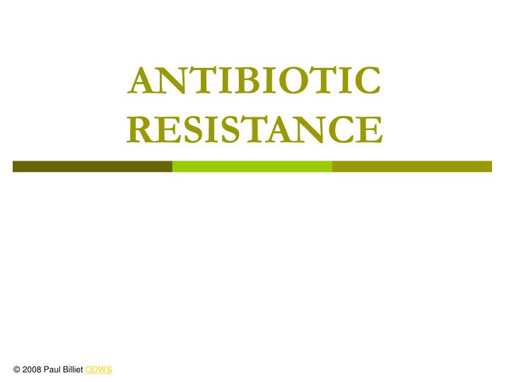 antibiotic resistance n.