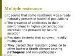 multiple resistance