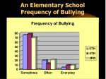 an elementary school frequency of bullying