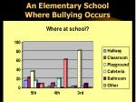 an elementary school where bullying occurs