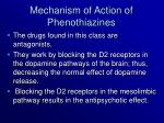 mechanism of action of phenothiazines
