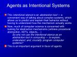 agents as intentional systems7