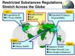 restricted substances regulations stretch across the globe