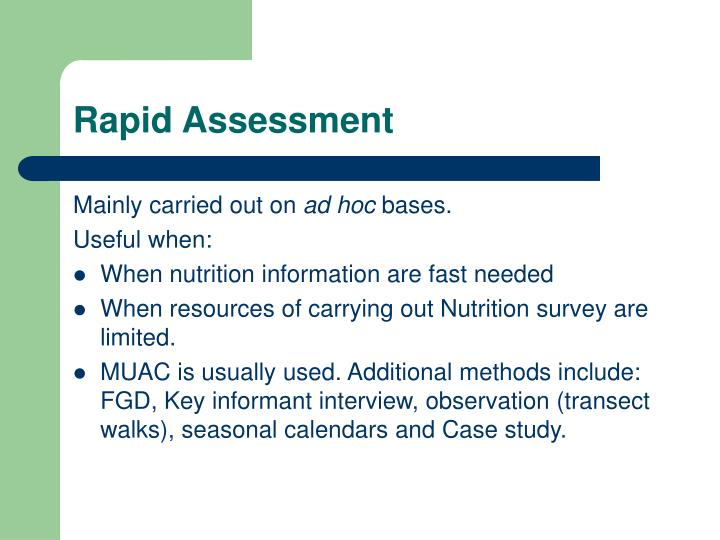Rapid Assessment