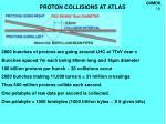 proton collisions at atlas