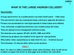 what is the large hadron collider