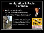 immigration racist paranoia