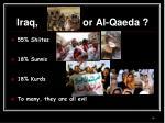 iraq or al qaeda