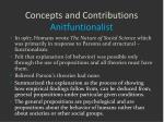 concepts and contributions anitfuntionalist