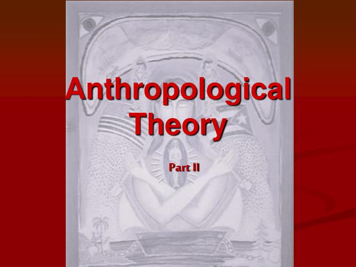 anthropological theory n.