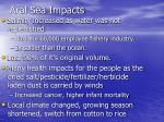 aral sea impacts