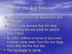 death of the aral sea